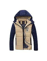 Gaorui Men Winter Jacket Warm Zip Up Hoodie Down Coat Outerwear Parka hooded Overcoat