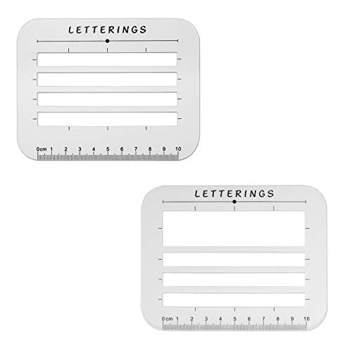 (Envelope and Address Stencil Ruler Guide and Template for Writing, Calligraphy, Recipe Cards, Wedding Invitations, Thank You Notes, Baby Shower Invitations, Holiday Cards and DIY Labels- 2 Size Pack)