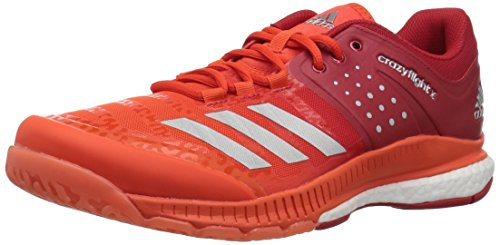 Image of adidas Men's Crazyflight X Volleyball Shoes, Scarlet/Metallic Silver/Energy, (9 M US)