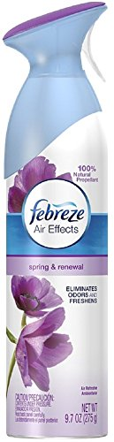 Febreze Air Effects Air Refresher, Spring & Renewal 9.70 oz (Pack of 3)