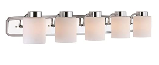 Dolan Designs Westport Light Bath Bar Chrome Vanity - Chrome 5 light bathroom fixture