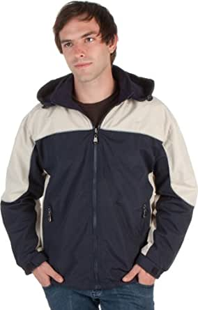 GSBNJ - Adult Mens Two-Tone Reversible Water-Resistant Hooded Jacket - Navy/Small