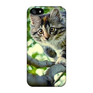 Hot IxWATMm2937cBrDm A Cat Climbing Down A Tree Tpu Case Cover Compatible With Iphone 5/5s