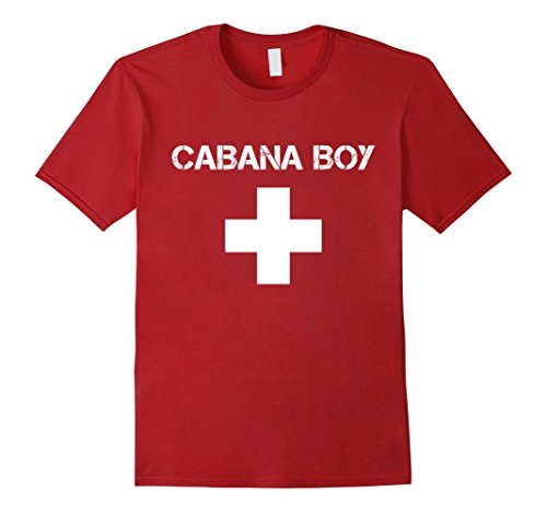 Cabana Boy Halloween Costume (Mens Cabana Boy Funny Red White Official Swim Shirt 2XL Cranberry)