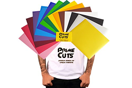 PrimeCuts HTV - 15 Heat Transfer Vinyl Sheets (Color Pack Gold Silver) 12