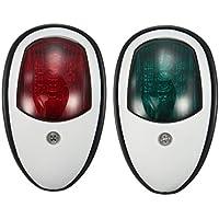 Jili Online Pair Black or White Housing Marine boat Yacht Light 12V LED Bow Navigation Lights Red Green