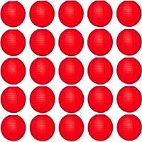 Jamboree Red Paper Table Lantern (30 cm X 30 cm, Pack of 25)