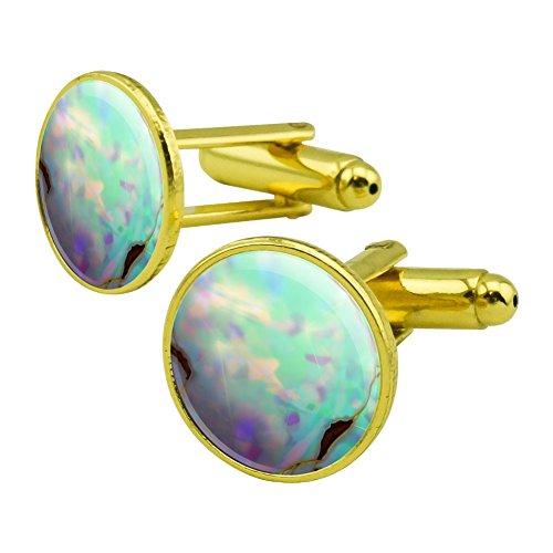 Gold Opal Cufflinks - 3