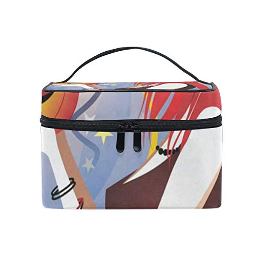 Travel Cosmetic Bag Halloween Witch Toiletry Makeup Bags Pouch Tote Case Organizer Storage For Women Girls]()