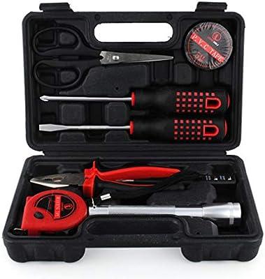 9-Piece Inicio Hardware mano conjunto de herramientas estuche de plástico kit de coche portátil de reparación simple combinación de herramientas Caja de herramientas Manual: Amazon.es: Bricolaje y herramientas
