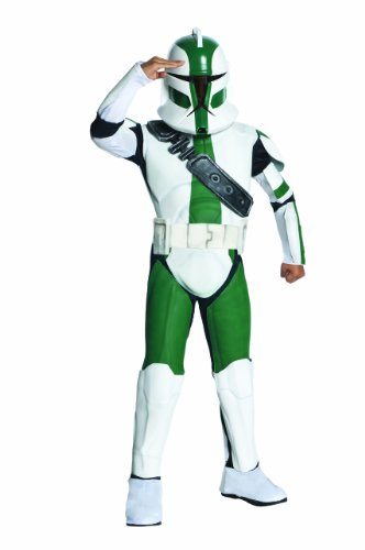 Go Green Costume Ideas (Star Wars The Clone Wars, Commander Gree Deluxe Child's Costume, Small)