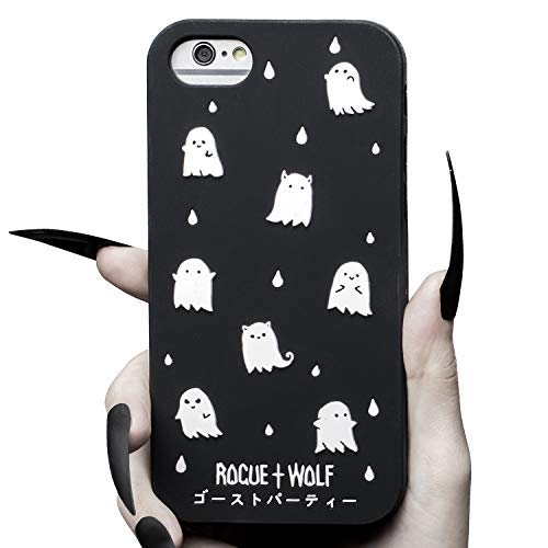 separation shoes c3201 3290a Rogue + Wolf Cute Ghost Party Phone Case for Girls Compatible with iPhone 6  6s 7 8 Cases Kawaii Spooky for Women (iPhone 6 / 6s / 7/8)
