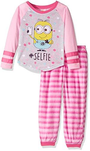 Despicable Me Girls' Little 2-Piece Jogger Set, Selfie Stripes -