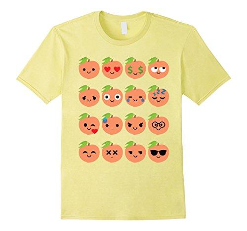 Men's Peach Emoji Many Face Shirt T-Shirt Tee Cherry Apricot Plum 3XL Lemon (Cute Candy Corn Costumes)