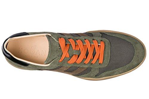 Hogan Mænds Sko Mænd Ruskind Sneakers Sko H357 Grøn Voud33