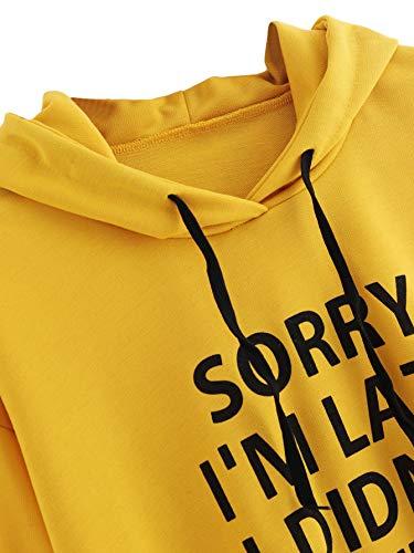 SweatyRocks Sweatshirt Women's Pullover Sweatshirt Letter Print Hoodie
