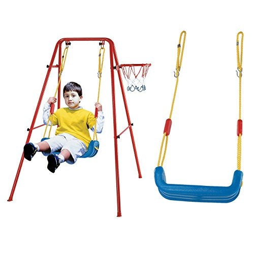 BFOEL Indoor Outdoor Play Swing Seat--Heavy Duty Playground Swing Set Accessories Replacement-Secure for Toddler Kids(frame is not include)