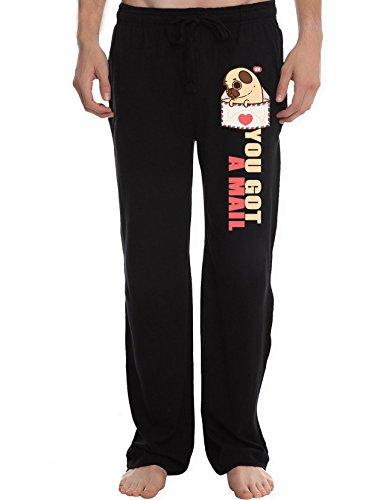 RUINENG Mens You've Got Mail Pug Dog Soft Knit Sleep Lounge Pant