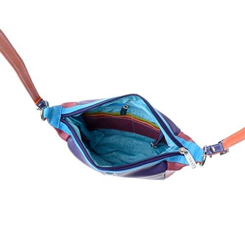 Borsa donna piccola multicolore in pelle Nappa a tracolla DUDU Viola