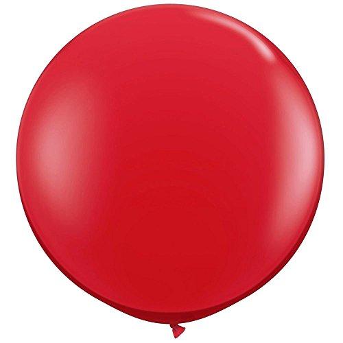 NYKKOLA 36 Inch Giant Latex Balloon (Premium Helium Quality),6 Pack Big Red Balloons