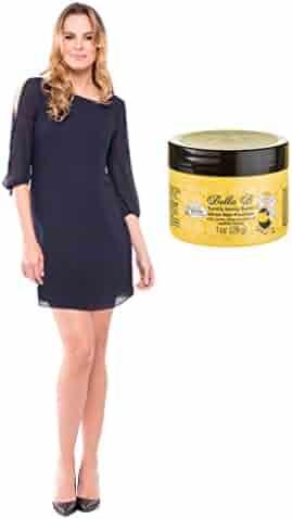 60c8093e1c5 Olian Bundle 2 Item Leah Chiffon Maternity Dress + BellaB Tummy Honey  Butter 1oz