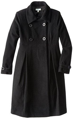 JoJo Maman Bebe Women's Maternity Long Coat with Double Buttons, Black, UK 18/US 14