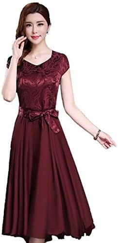 Short sleeved Slim Pleated dress
