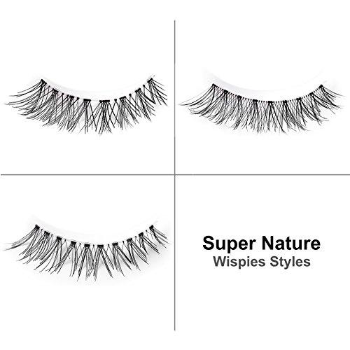 FFLEMON-15-Pairs-Premium-False-Eyelashes-3-Styles-Multipack-Handmade-Nature-Fake-Eyelashes-Demi-Wispies-Invisible-BrandReusable