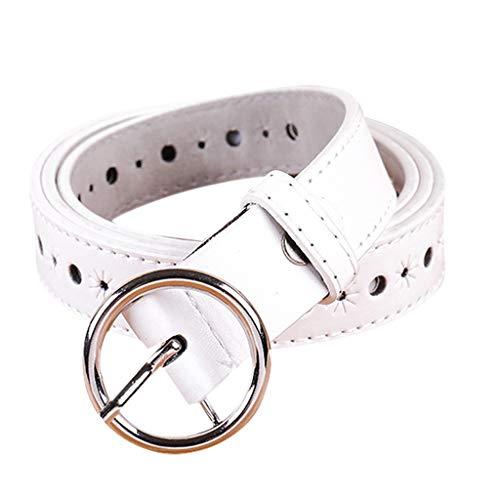 - Women Leather Belt Simple Vintage Casual Canvas Belt Buckle Letters Belt Men Waistband Leisure Belt
