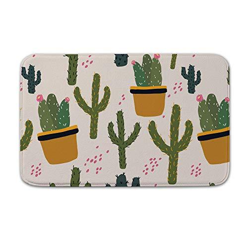 DKISEE Indoor Outdoor Entrance Rug Floor Mat Bathmat Vegas Cactus Doormat