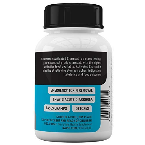 Activated Charcoal Tablets.''Charco Tabs 120's''. 120 Tablets. Absorbs Toxins. Stomach Ache. Diarrhea. Cramps. Flatulence. Alleviates Food Poisoning. Detoxes