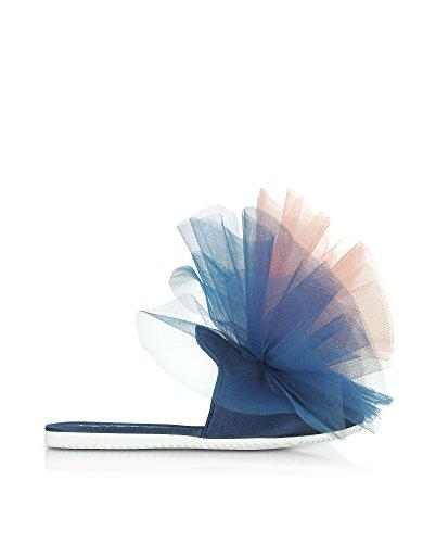 Women's 10368VAWBLUE Sanders Sandals Blue Joshua Fabric nxTqORfWnw