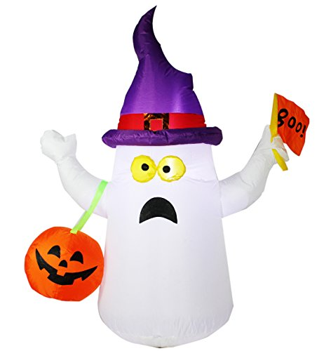 Joiedomi 4.5 ft Halloween Inflatable Blow Up Ghost with