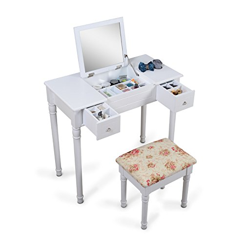 ViscoLogic Wooden Vanity Dressing Table with Stool for sale  Delivered anywhere in Canada