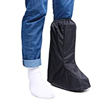 ARUNNERS Walking Boot Covers Rain Waterproof Aircast Medical Orthopedic Cast Sock Toe Crank Winter Snow Stress Fracture Cold for Women (Tall,Black,M)