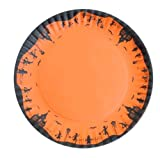 "HALLOWEEN PLATTER 16"" round Glitterville Halloween Trick or Treater Design NEW"
