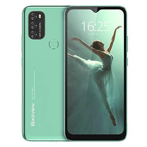 Android 11 Smartphone Libre, Blackview A70 Teléfono Móvil Octa-Core 3GB + 32GB Pantalla Waterdrop HD+ 6.517 '', Cámara Triple 13MP Movil Libre Barato Batería 5380mAh Dual SIM 4G Face ID/GPS- Green a buen precio