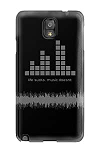 Hot Design Premium SobunMY5458iuysm Tpu Case Cover Galaxy Note 3 Protection Case(artistic Music People Music)