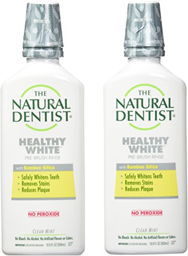 The Natural Dentist Whitening Antigingivitis Rinse, Clean Mint - 16.9 oz - 2 pk ()