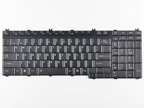 Eathtek Replacement Keyboard for Toshiba Satellite L350 L355 L355D A500 A505 series Black US Layout, Compatible part number 6037B0039102 MP-08H73US6930 V000190180