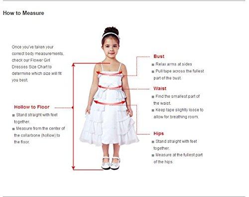 Amazon.com: LightInTheBox Girls Princess Knee-length Floral Girl Dress - Lace / Tulle Sleeveless Scoop with Bow(s) / Sash / Ribbon (Child-10, ...