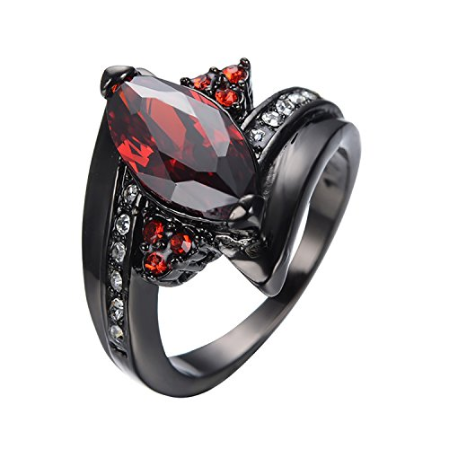[AYT Vintage Jewelry Female /Male Black Gold Filled Cubic Zircon Big Crystal Horse Eye Ring Party Wedding Jewelry Gift Anel] (Black Russian Male Adult Costumes)