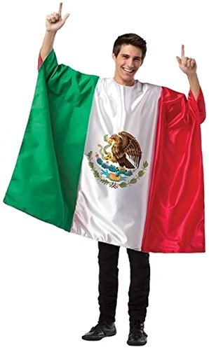 Adult Flag Tunic Costume (Mexico) - Mexico Men National Costume
