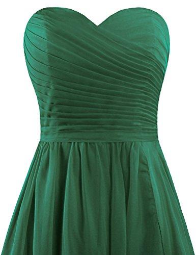 Hunter Women's Party Chiffon Short Strapless Dresses Green Wedding ANTS Bridesmaid W7Rgw68qRd