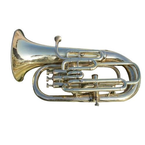 Euphonium Gold Lacquer Pure Made of Brass 4 Valve Euphonium Bb Pitch With Free Case Box & Mouth Pc.
