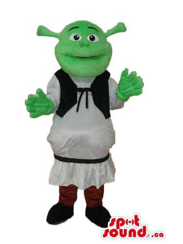 Shrek The Green Ogre Well-Known Movie Character Flashy Mascot SpotSound US