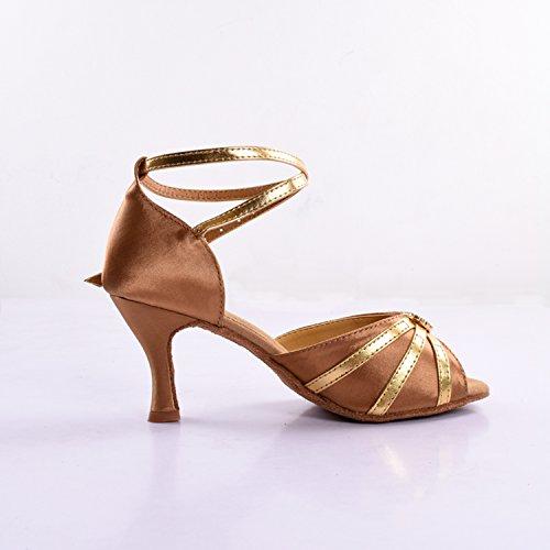 Senhoras 5 amp; Forma Tamanho Standard Sapatos 35 Latin Goldbronze Dançando Kevin 5RBAww