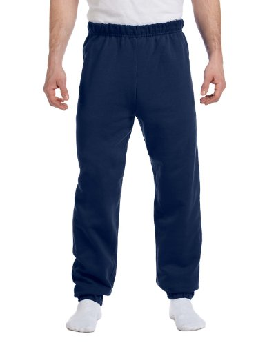 Jerzees mens 8 oz. 50/50 NuBlend Fleece Sweatpants(973)-J NAVY-S