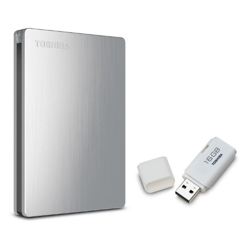 Toshiba Canvio Slim II 1.0 TB Portable Hard Drive with Bonus