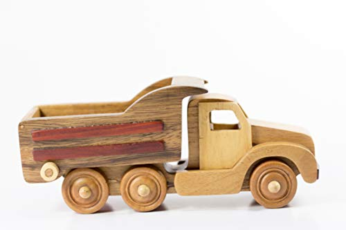 - Hajito Wooden Toy Dump Truck Play Set, Push Toys, Wooden Toddler Toys